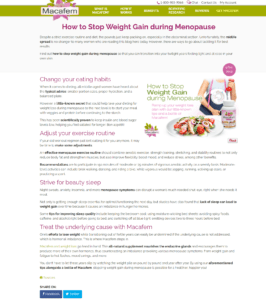 How to Stop Weight Gain during Menopause Macafem