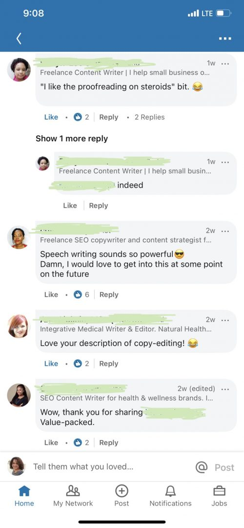 21 Ideas for Your New Freelance Business in 2021 LinkedIn Comments